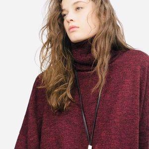 Zara Knit Oversized Slouchy Cropped Sweater Top